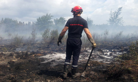 Huge forest fire rages in France for fourth day