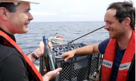 Fine French wines to mature in Atlantic Ocean
