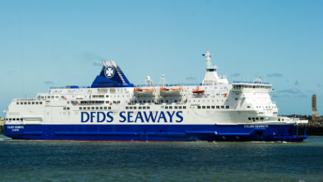 DFDS halts Dover to Calais ferry services