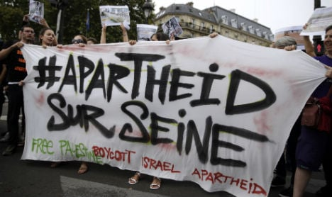 Tel Aviv comes to Paris amid protests and police
