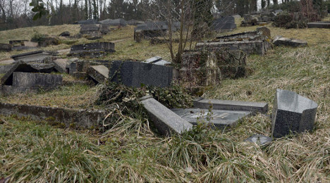 Christian tombs desecrated in France
