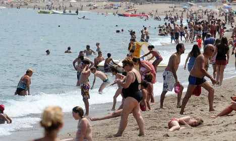 Tourists warned of risks of swimming in the Med