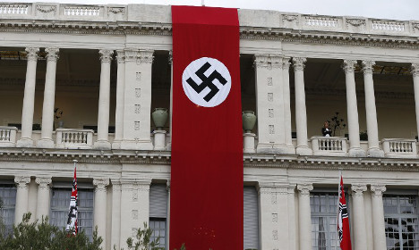 Locals shocked as Nazi banner unfurled in Nice