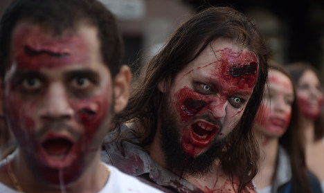French zombie march terrifies Strasbourg