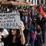 Thousands in Europe protest Ankara attacks