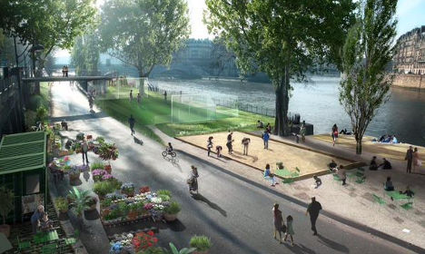 Paris to hand Right Bank to pedestrians in 2016