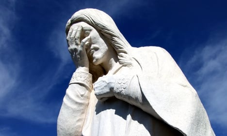 'Stressed' French priest smashes Jesus statue