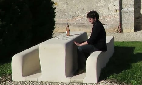 Frenchman turns mum's tomb into a picnic table