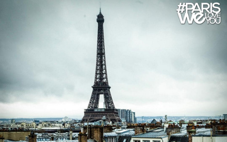 #ParisWeLoveYou: City of Light fights back
