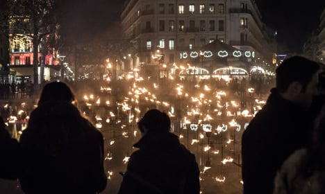 Lyon lights up to pay homage to Paris victims