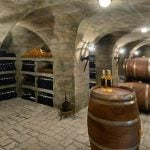 As well as this wine cellar, the mansion also features indoor and outdoor pools, a private cinema, a squash court, two ballrooms and a nightclub.Photo: Château Louis XIV