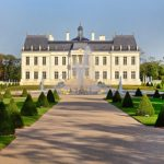 """""""With elegantly planted parterres, a gleaming gold-leafed fountain, an infinite array of flowers, marble statues, bridle paths and a hedged labyrinth, the property's park and gardens evoke the genius of Le Notre, """" the firm that designed the castle, Cogemad, said on its website, referring to the gardener of France's King Louis XIV.Photo: WikiCommons"""