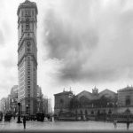 Here's the famous New York Flatiron building outside Montparnasse station as it used to look in 1900.Photo: Luis Fernandes
