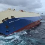 VIDEO: Huge cargo ship lists dangerously off French coast