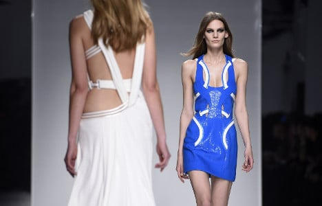 IN IMAGES: Versace sexes up catwalk with racy Paris show