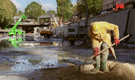 So what's beneath the surface of a Paris canal?