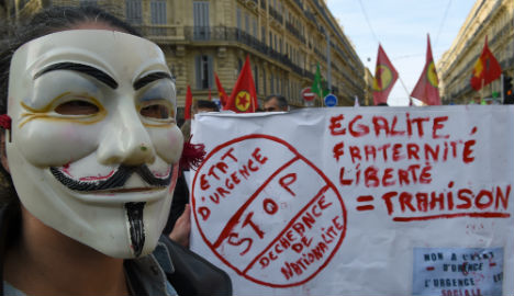 Thousands protest state of emergency in France