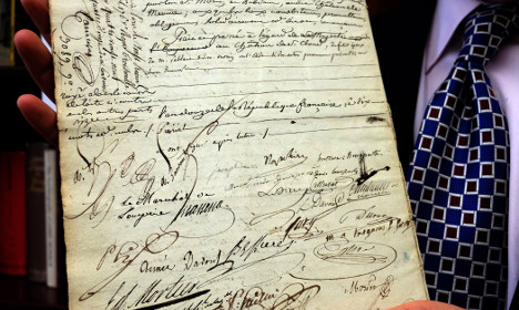 Napoleon's Catholic marriage certificate goes up for auction
