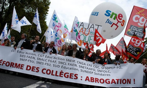 Why is there a major national strike in France?