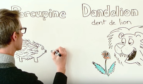 VIDEO: French phrases hidden in English words