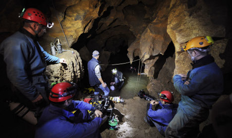 Seven saved after 22 hours trapped in French cave
