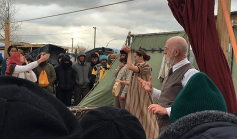 UK group performs Shakespeare to Calais migrants