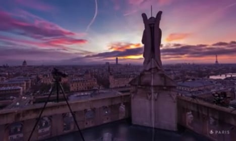 Paris celebrates with stunning time lapse video of city