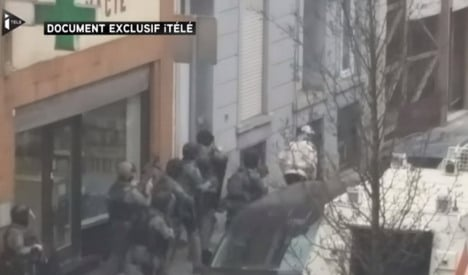 New footage emerges of Abdeslam's dramatic capture
