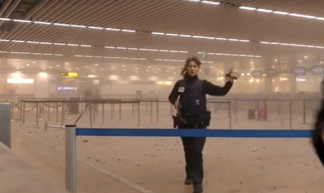 VIDEO: Scenes of panic after bomb blasts at Brussels airport