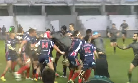 VIDEO: French-British navies' brutal rugby brawl goes viral