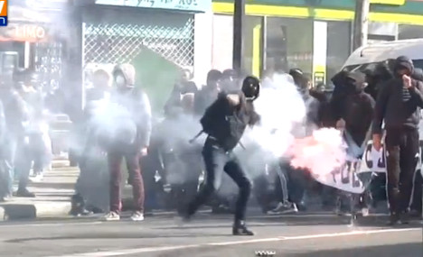 Violence flares as French students protest job reforms