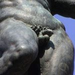 French statue gets removable organ to fight penis thieves