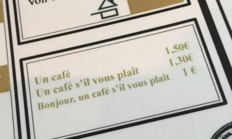 How minding your manners in a French café can save you money