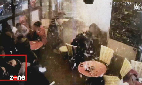 VIDEO: The chilling moment a Paris suicide-bomber blew himself up