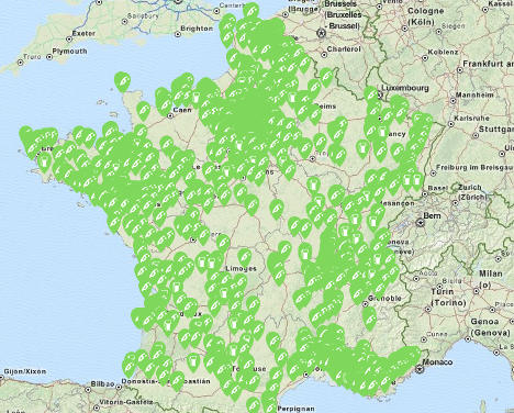 Interactive map: Where to find petrol in France
