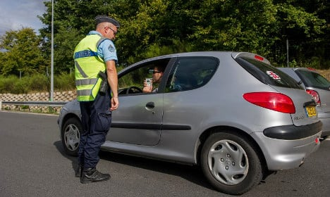 Frenchwoman 'strips for police' after car accident