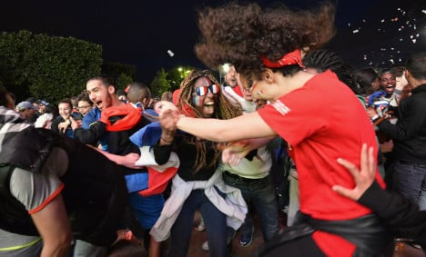 French celebrate as Les Bleus finally relieve the tension