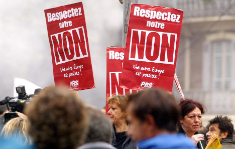 When France 'ignored' the result of an EU referendum