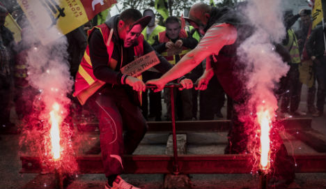 French rail strike enters third day as Euro 2016 fears ease