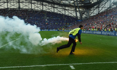 Are fans at Euro 2016 hiding flares in their rectums?