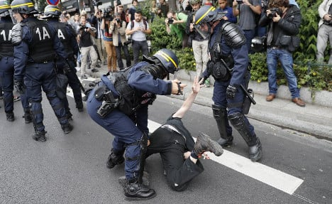 Tensions mount as thousands protest France's labour laws