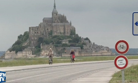 Mont-St-Michel (where bikes are banned) all set for Tour