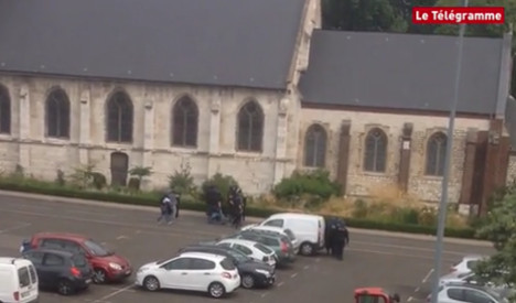 VIDEO: Police raid on French church captured on video