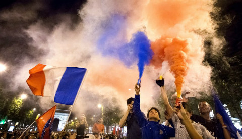 French take to streets to party after beating Germany