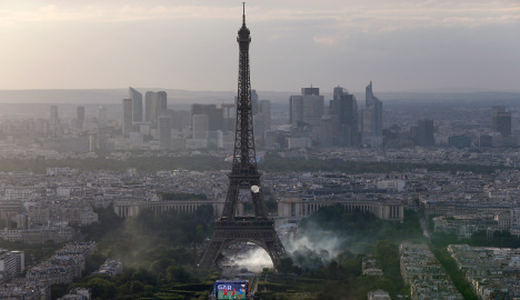 Eiffel Tower closes after riots at fan zone