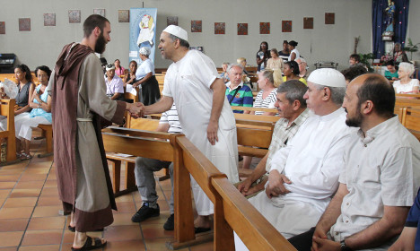 French Muslims pray with Catholics over priest's murder