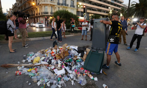 Garbage and stones form pile of hatred for Nice killer
