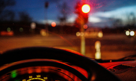 Where in France do drivers run the most red lights?