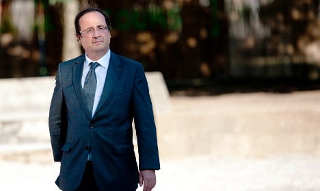 Where did President Hollande go for his summer holiday?