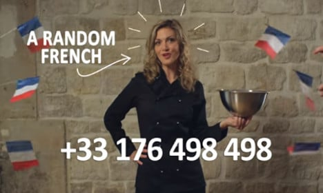 You can now dial France and speak to 'a random French'